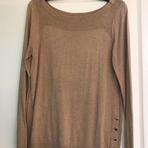 Chic Ann Taylor Camel Sweater